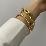 SRCOI-2-Pcs-ensemble-or-couleur-m-tal-cha-ne-lien-cr-atif-bambou-Bracelet-Bracelet