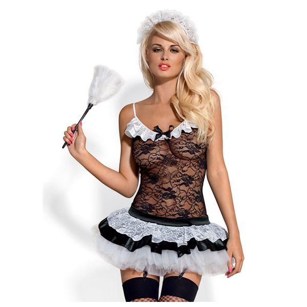 Costume de femme de chambre S/M Obsessive 8202937
