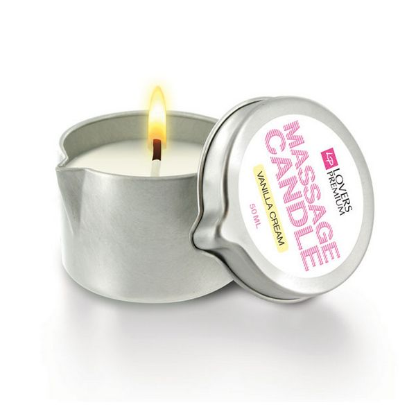 Bougie de massage Crème Vanille LoversPremium E22039