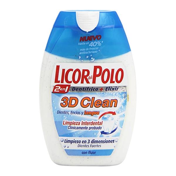 Dentifrice 3d Clean Licor Del Polo (75 ml)