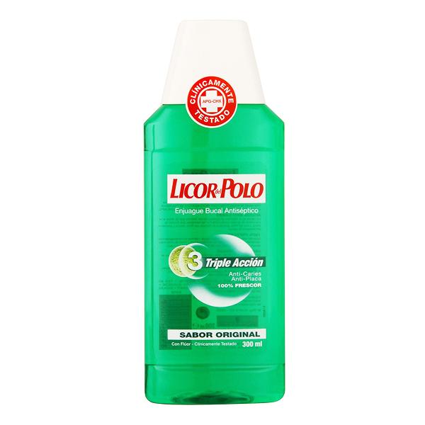 Bain de Bouche Anti-plaque Bactérienne Licor Del Polo (300 ml)