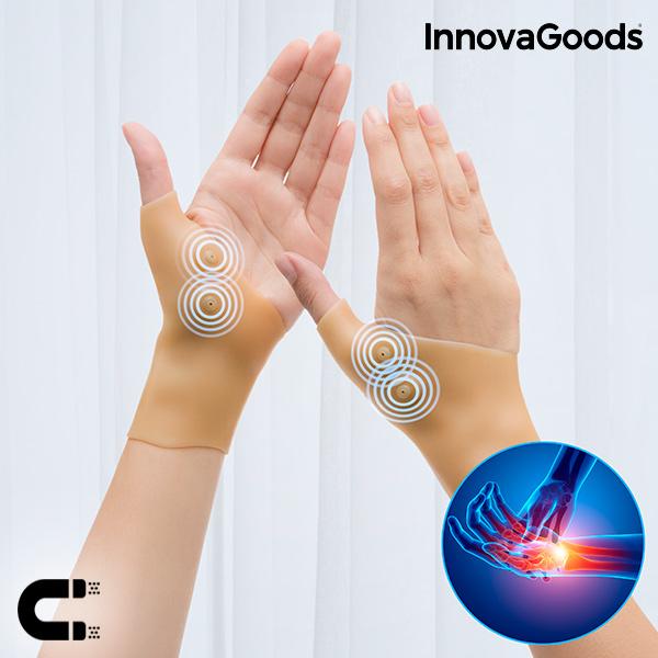 Protège-poignets de Compression avec points Magnétiques InnovaGoods (Pack de 2)
