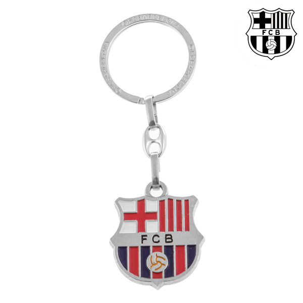 Porte-clés Argenté FC Barcelone