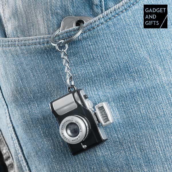 Porte-clés Appareil Photo con LED et Son Gadget and Gifts