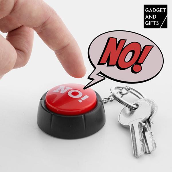 Porte-clés Bouton avec Son NON ! Gadget and Gifts