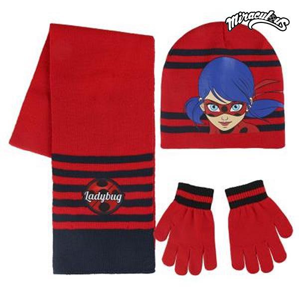 Bonnet, écharpe et gants Lady Bug 189