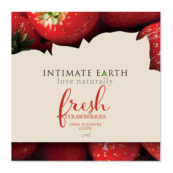 Oral Pleasure Glide Glide  Fraise Fraîche 3 ml Intimate Earth 6561