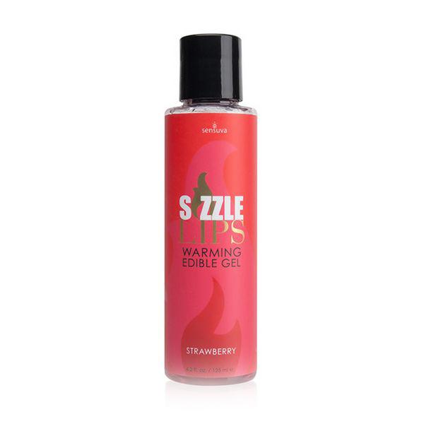 Gel chauffant comesible Sizzle LipsFraise 125 ml Sensuva 7303