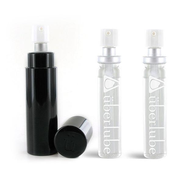 Lubrifiant silicone Good to go Noir et Recharge (3 pcs) Uberlube 3138