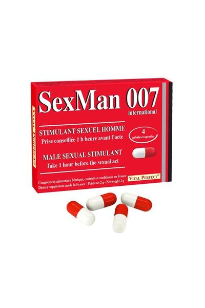 Aphrodisiaque SexMan 007 (4 gélules)