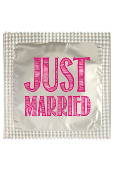Préservatif humour - Just Married