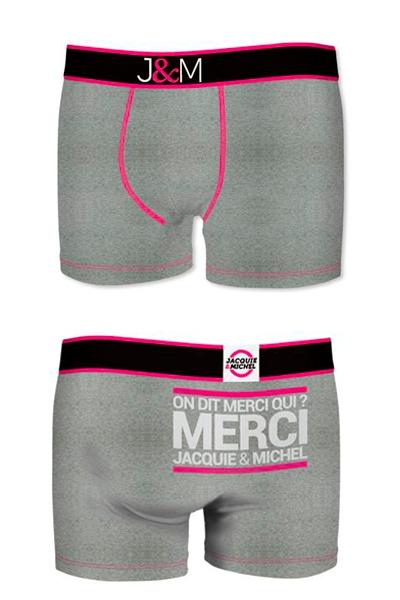 Boxer J&M en coton - gris