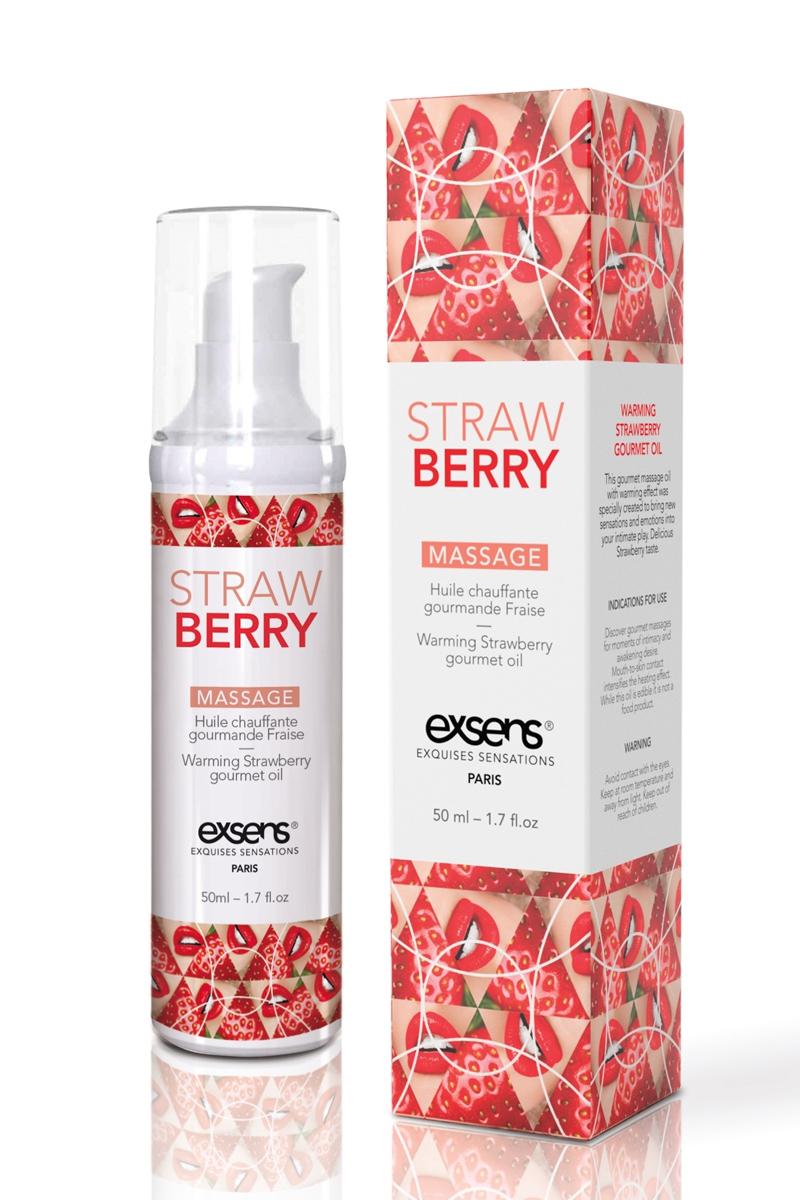 Huile de massage chauffante gourmande - fraise