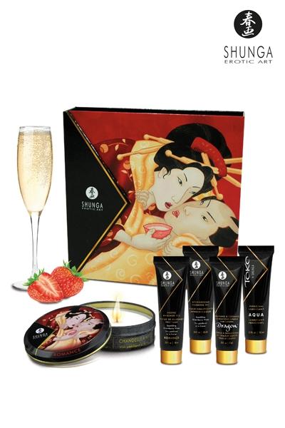 Coffret Secret de geisha vin pétillant à la fraise