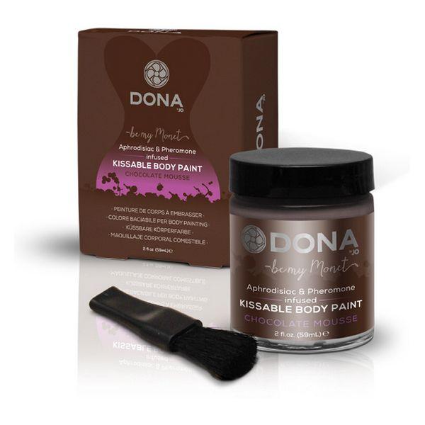 Peinture pour corps mousse au chocolat 60 ml Dona 5710
