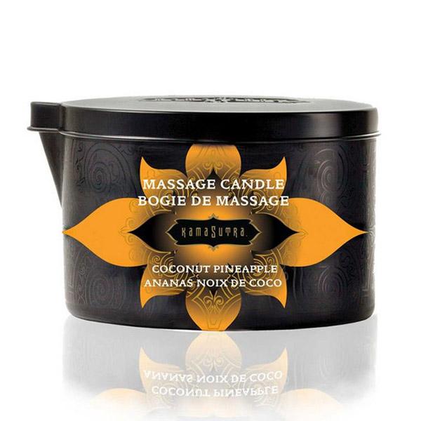 Bougie de massage noix de coco ananas Kama Sutra 10227
