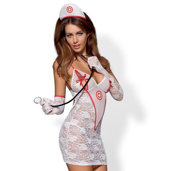Costume Infirmière L/XL Obsessive 3002
