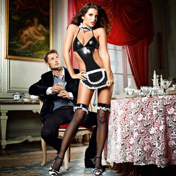 À votre service Français Maid Ensemble Taille Unique Baci Lingerie E25254