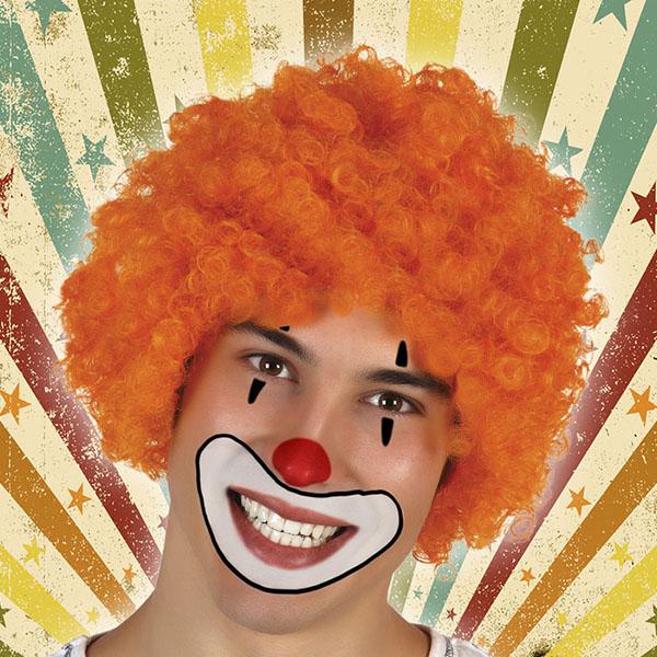 Perruque avec Cheveux Bouclés 119755 Orange