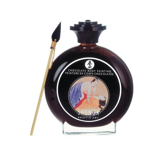 Peinture Corporelle Aphrodisiaque Shunga SH7000 Chocolat (100 ml)