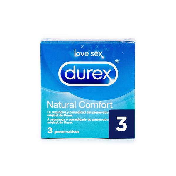 Préservatifs Naturel Comfort Durex (3 pcs)