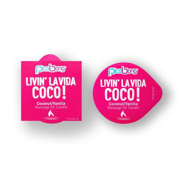 Bougie Huile de massage Noix de coco et Vanille PicoBong 7038