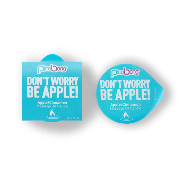 Bougie Huile de massage Pomme et Cannelle PicoBong 7014