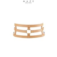 Ceinture et menottes marron - Maze