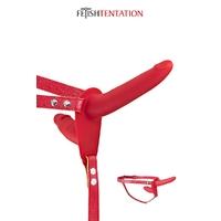 Double gode ceinture rouge - Fetish Tentation