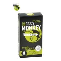 12 Préservatifs Crazy Monkey Menthe Fraiche