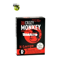 3 Préservatifs Crazy Monkey X-Large