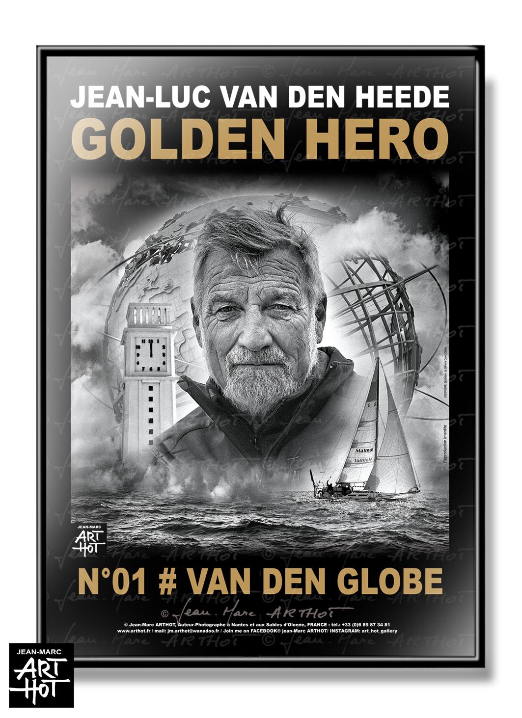AFFICHE VDH-GOLDEN HERO-N°01-Van Den GlobeM