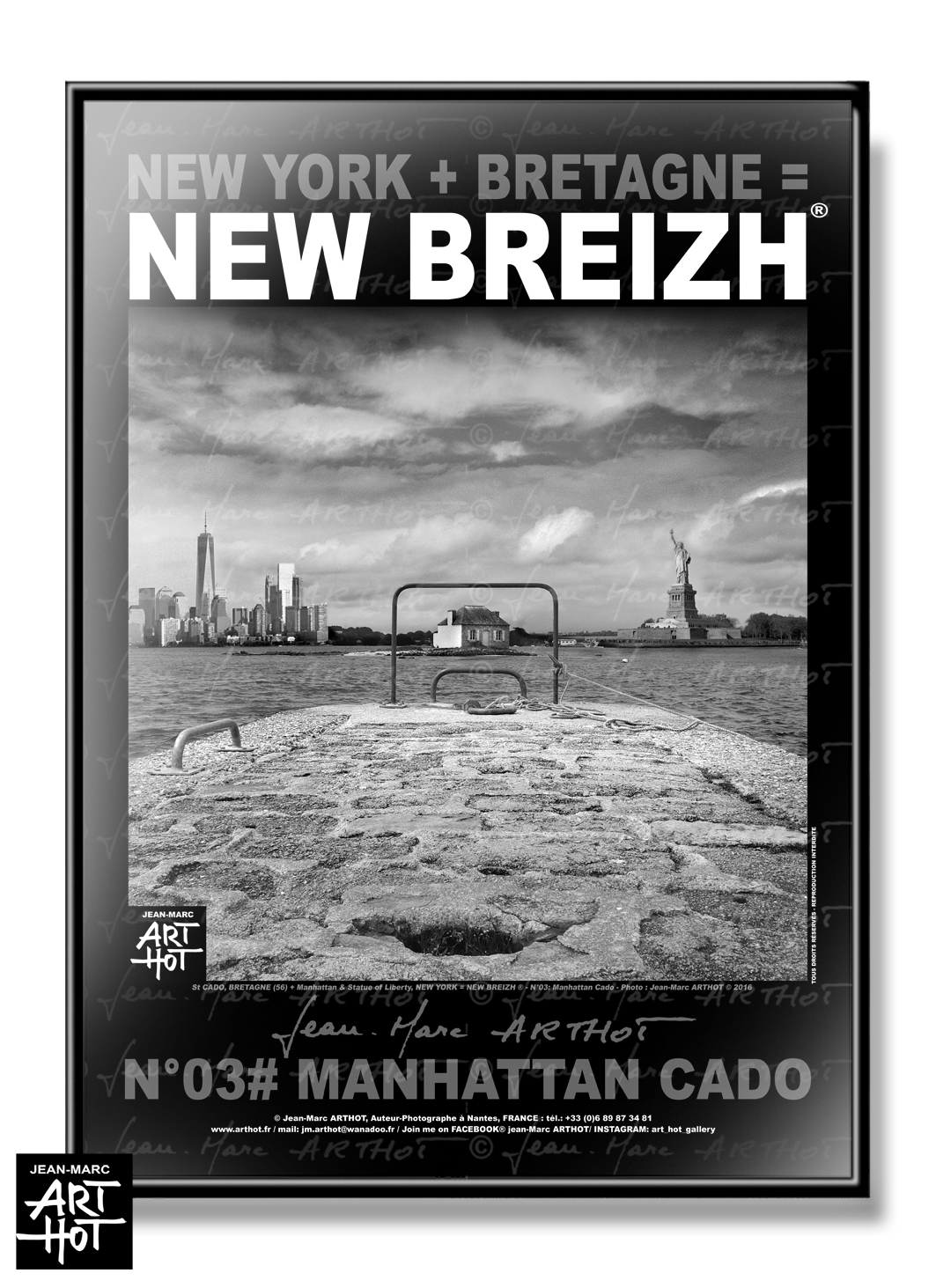 AFFICHE NEW BREIZH N°03-Manhattan Cado