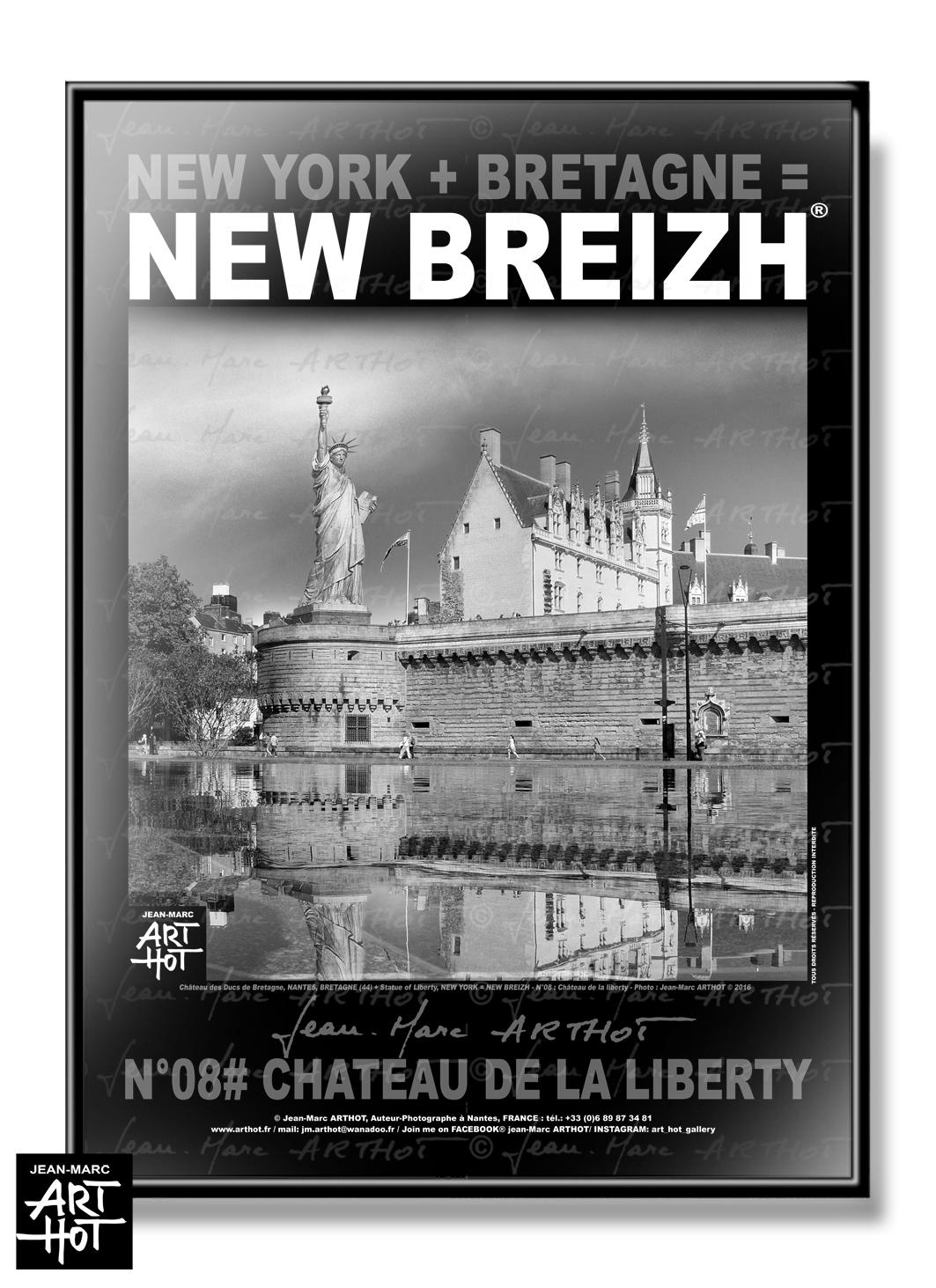 AFFICHE NEW BREIZH N°08-Château de la Liberty