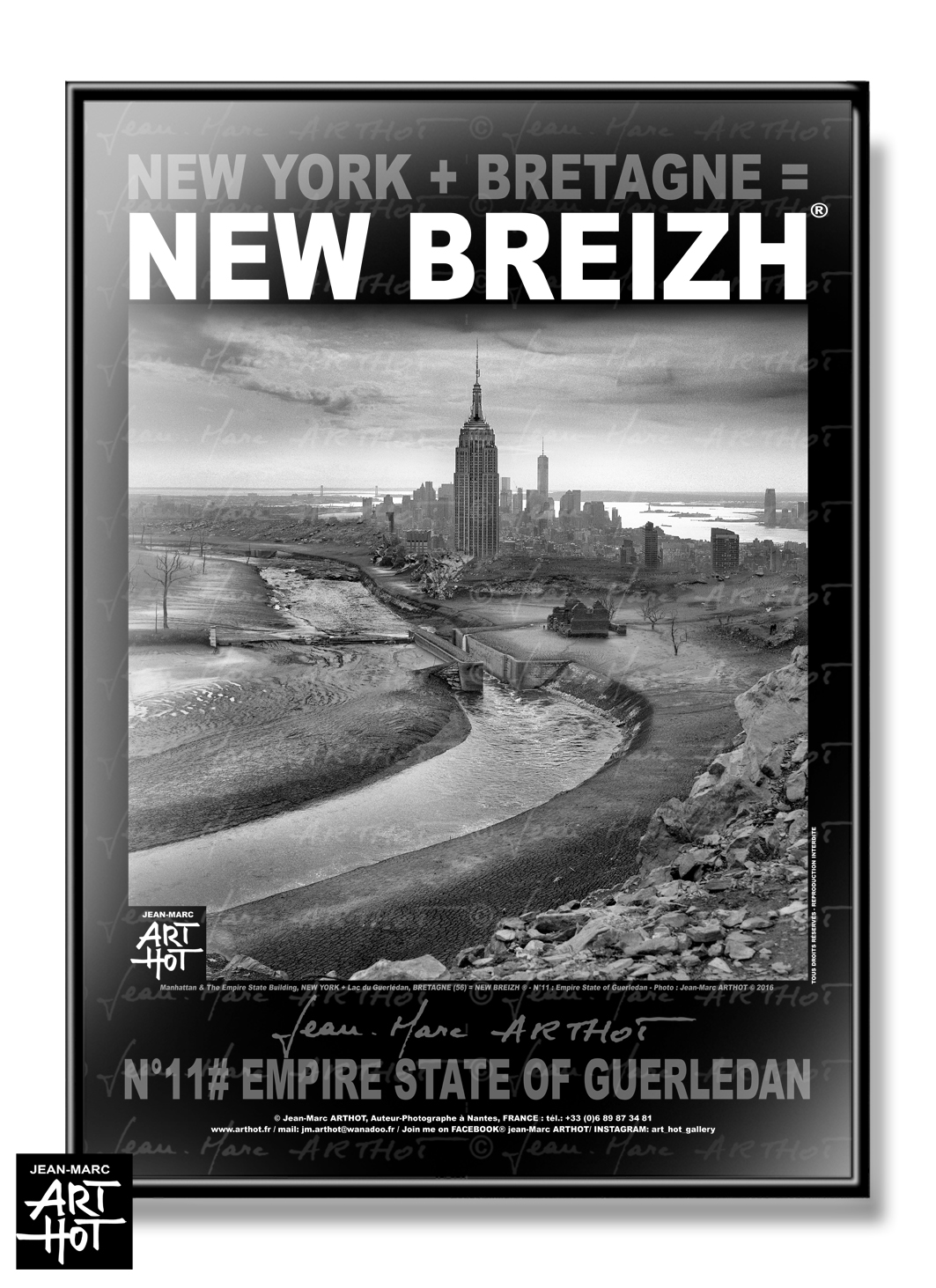 AFFICHE NEW BREIZH N°11-Empire State of Guerledan