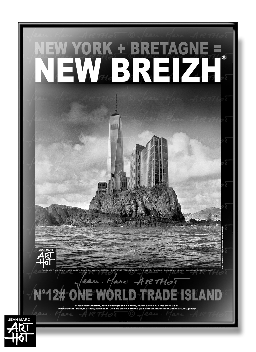 AFFICHE NEW BREIZH N°12-One World trade Island
