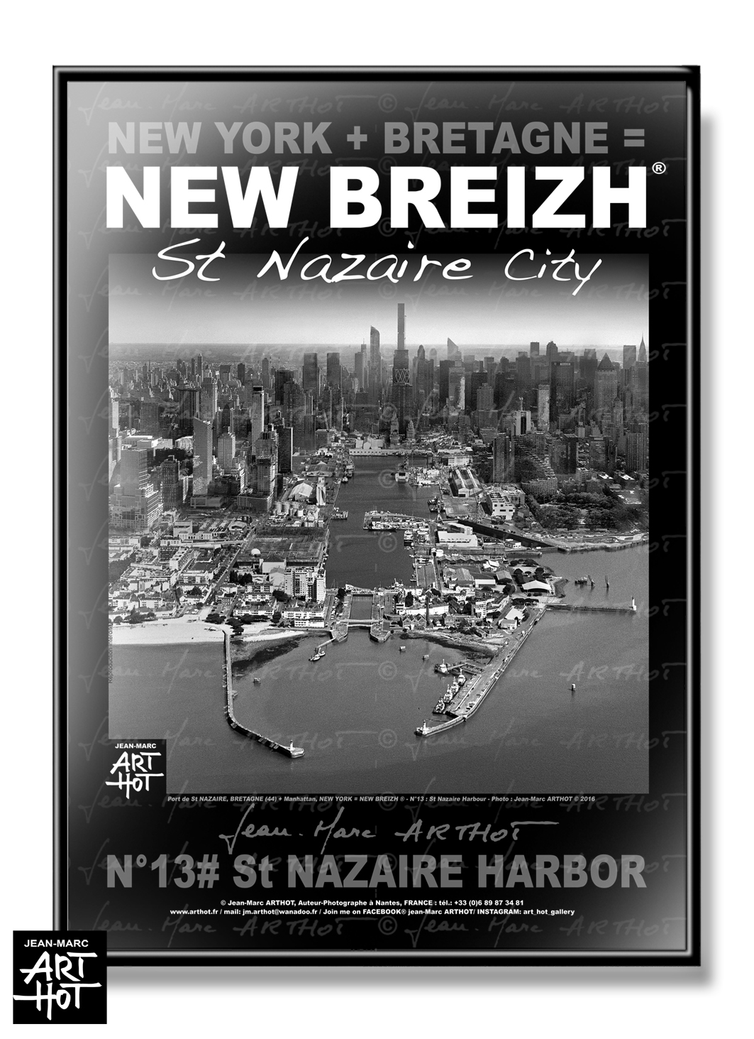 AFFICHE NEW BREIZH N°13-Saint Nazaire Harbor