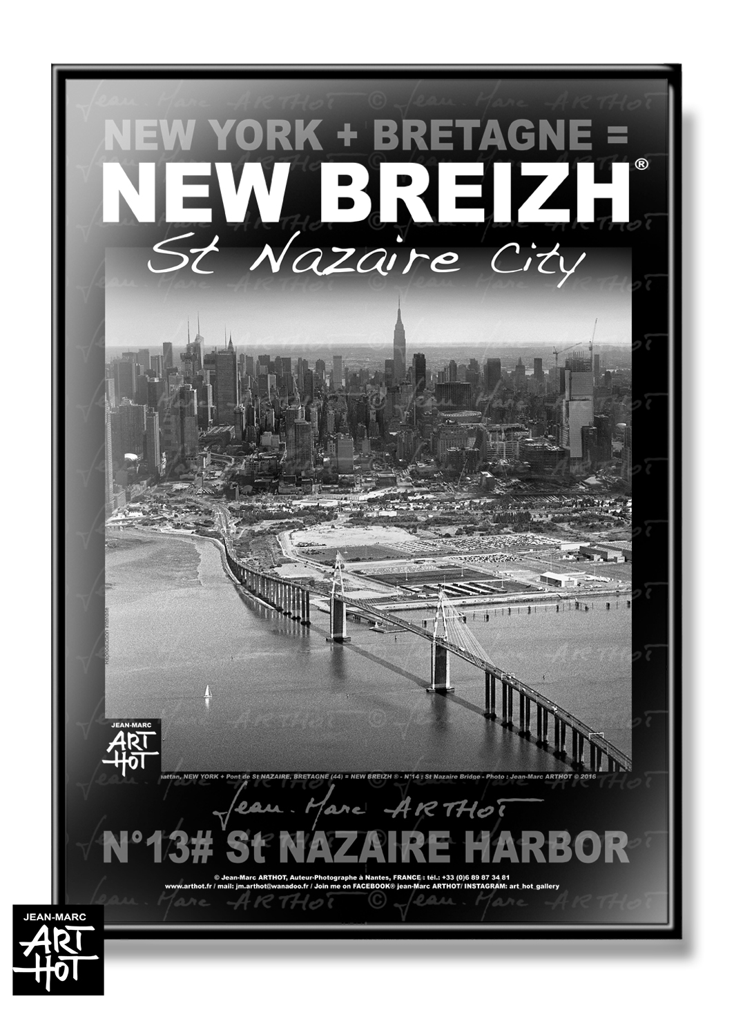 AFFICHE NEW BREIZH N°14-Saint Nazaire Bridge