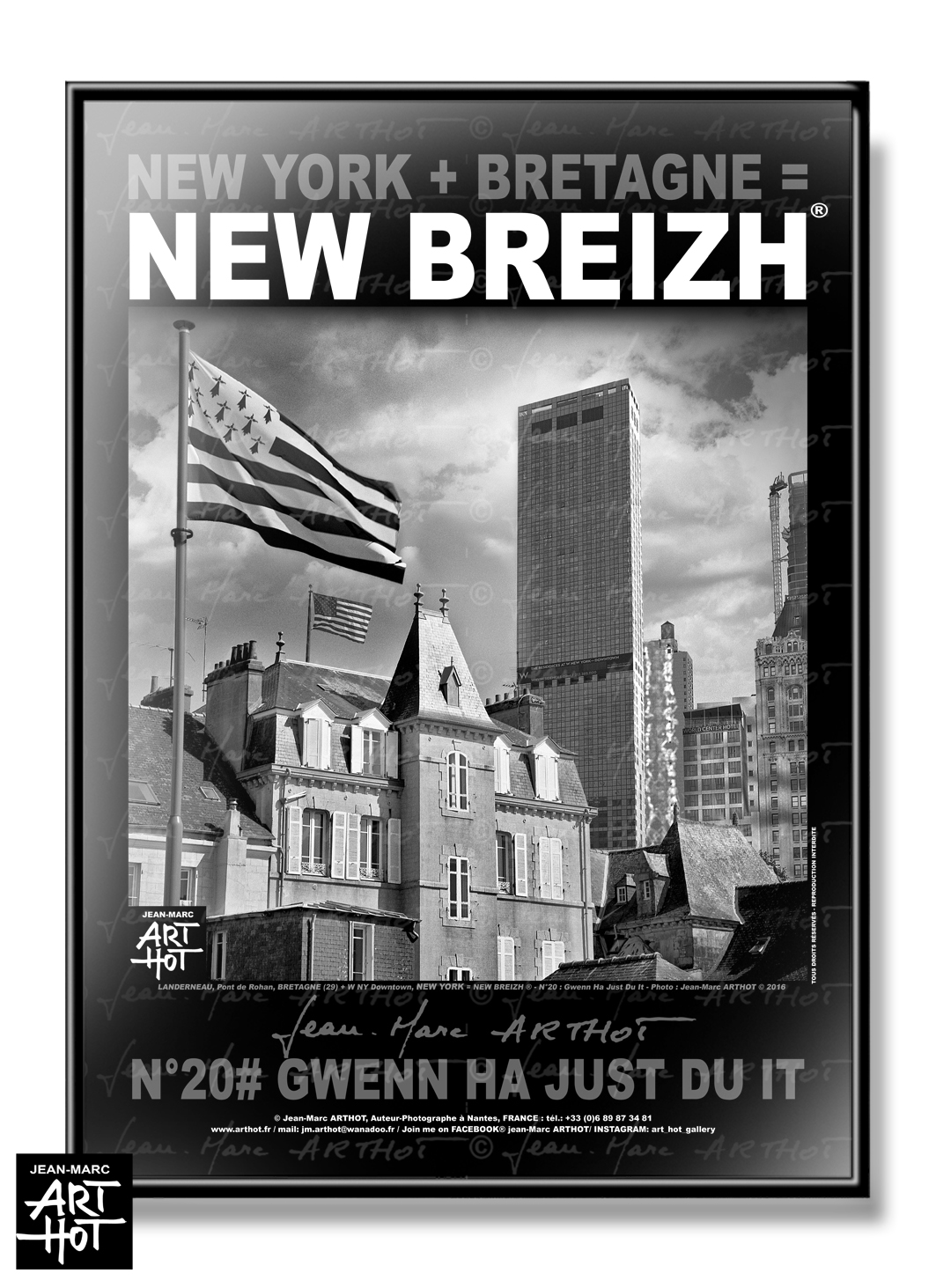 AFFICHE NEW BREIZH N°20-Gwen Ha Just Du it