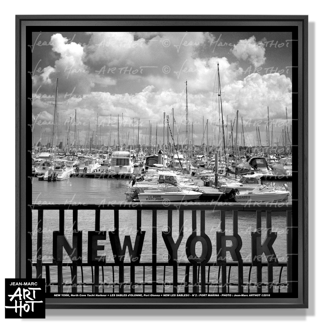 PHOTO D\'ART NEW LES SABLES N°02-Port Marina