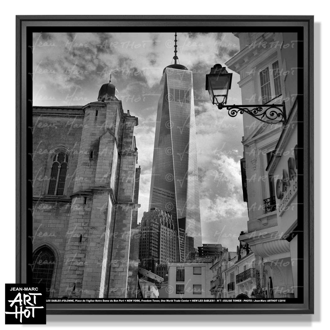 PHOTO D\'ART NEW LES SABLES N°07-Eglise Tower
