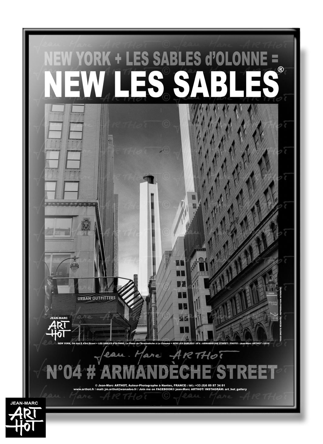 AFFICHE NEW LES SABLES N°04-Armandèche Street