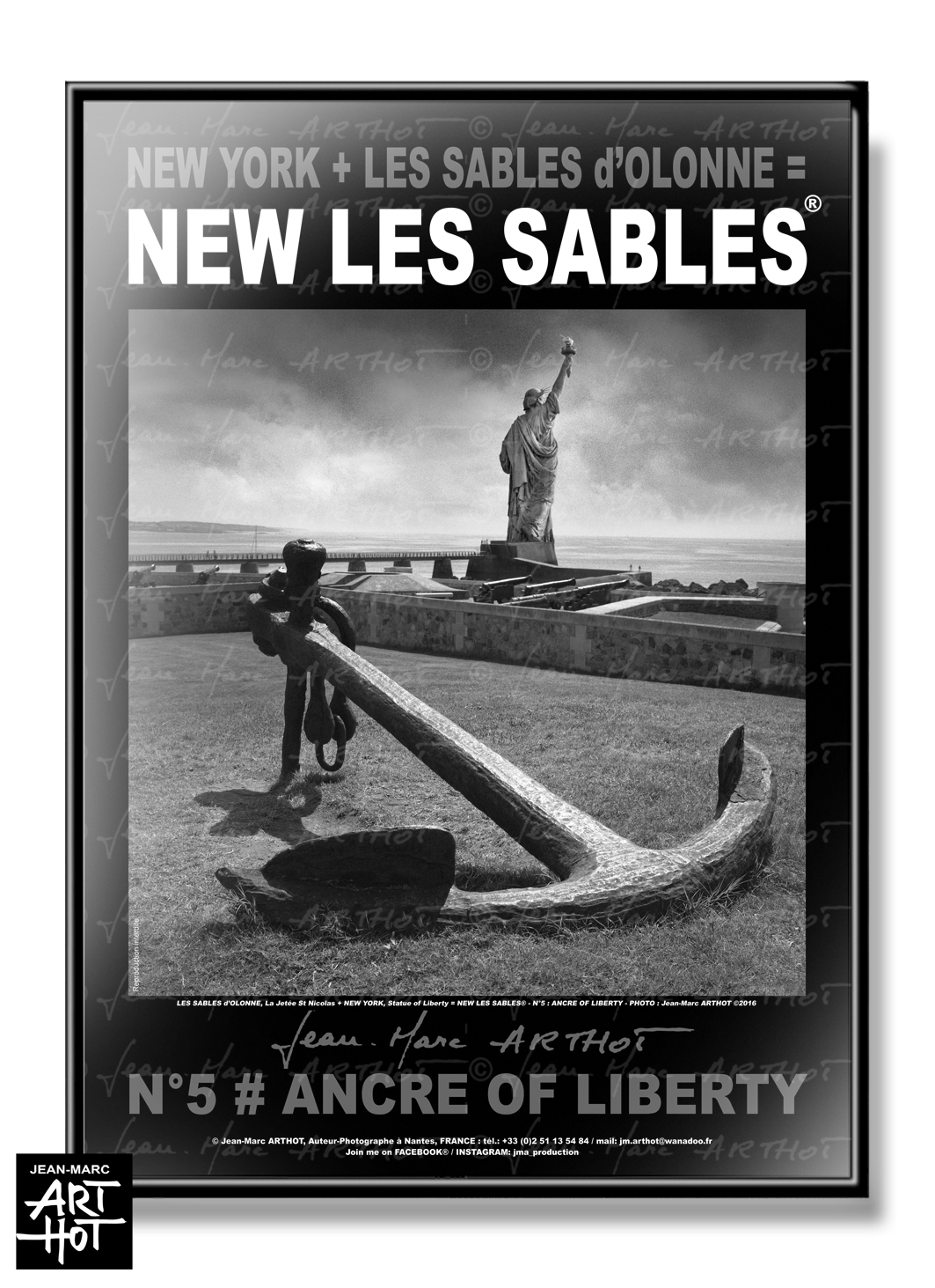 AFFICHE NEW LES SABLES N°05-Ancre of Liberty