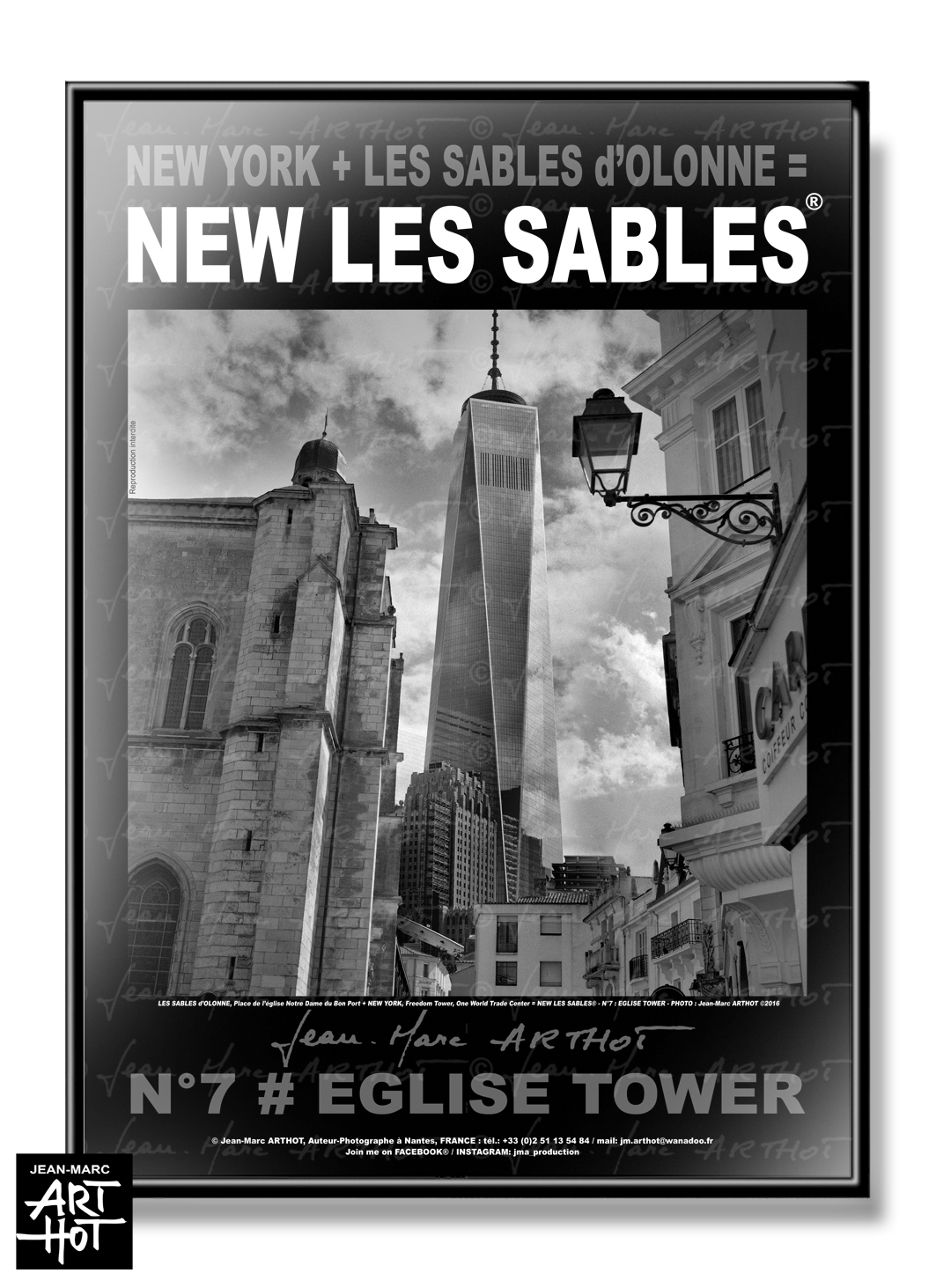 AFFICHE NEW LES SABLES N°07-Eglise Tower