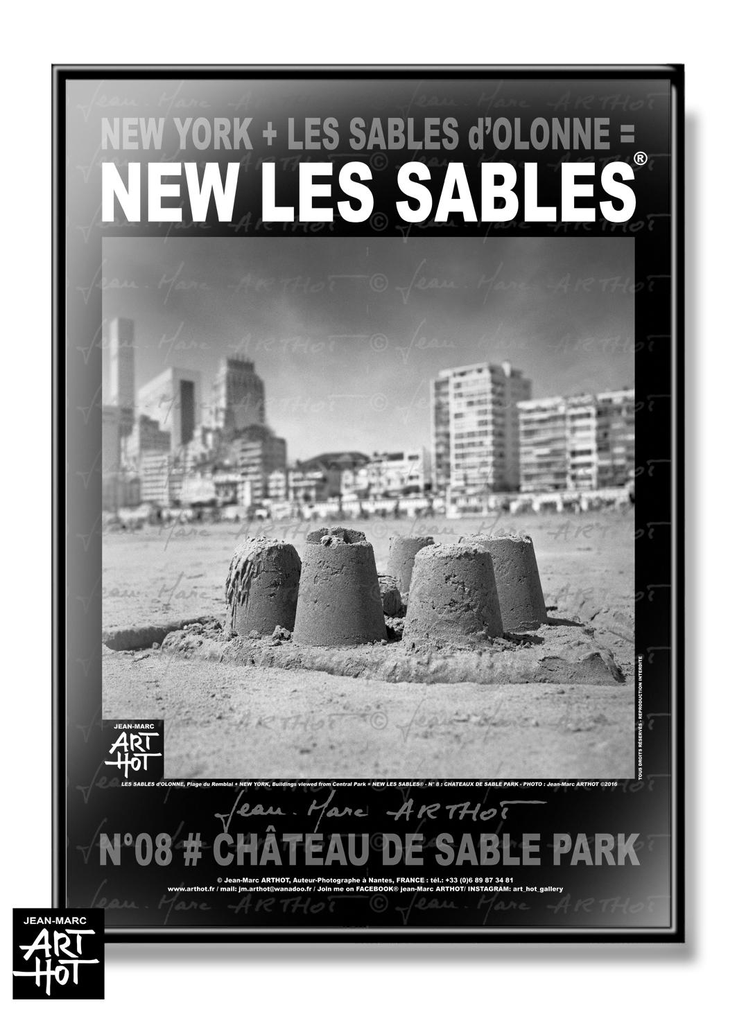 AFFICHE NEW LES SABLES N°08-Château de Sable Park