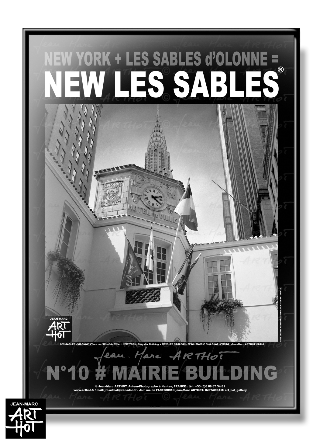 AFFICHE NEW LES SABLES N°10-Mairie Building