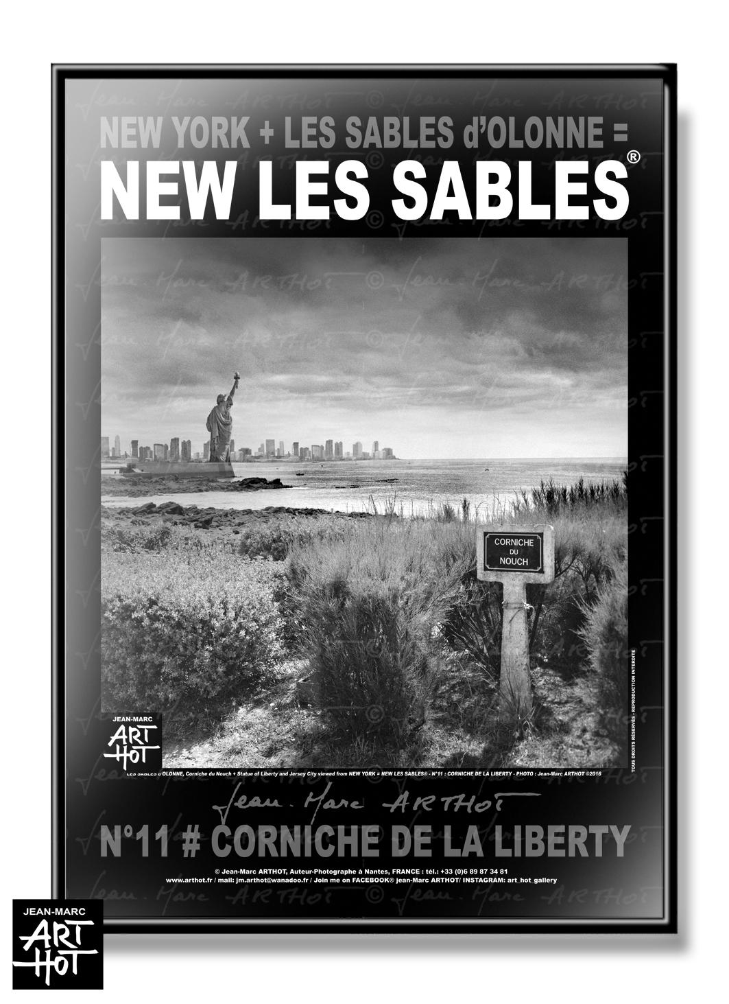 AFFICHE NEW LES SABLES N°11-Corniche de la Liberty