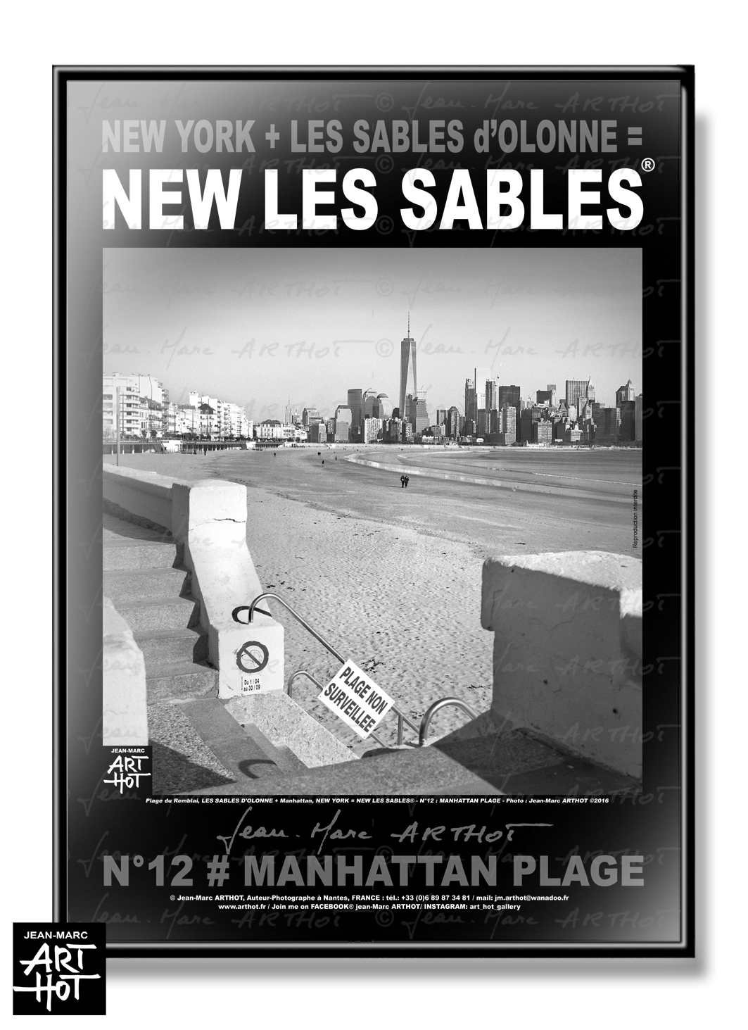AFFICHE NEW LES SABLES N°12-Manhattan Plage