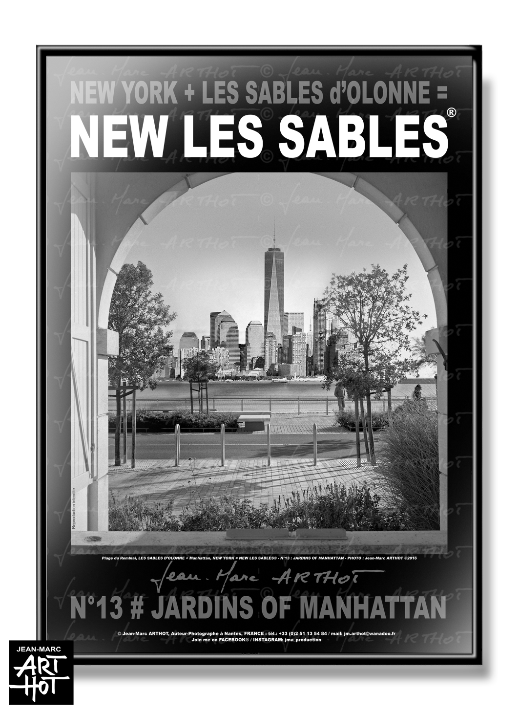 AFFICHE NEW LES SABLES N°13-Jardins of Manhattan