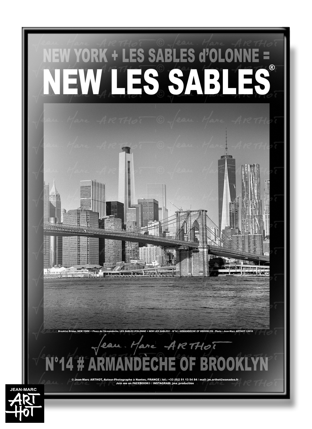 AFFICHE NEW LES SABLES N°14-Armandèche of Brooklyn